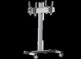 Back-to-Back Tilting Floor Trolley (32″-70″)